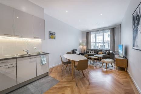 This modern 2 bedroom apartment is well located between the University, the Hospital and 10 minutes by tram from the shopping and banking center. Enjoy a fully renovated apartment with a lot of storage space. The master bedroom has a double bed and the second bedroom two single ones.