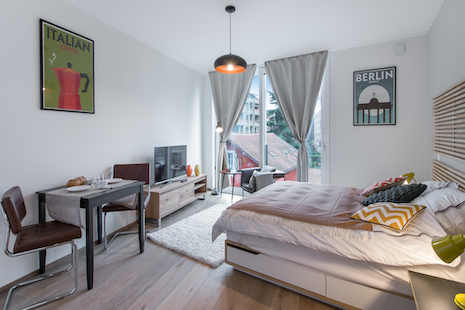 The construction of this studio just finished, decorated in vintage style enjoy a trendy and comfortable apartment very well located close to the bank district, Pictet and Rolex.
