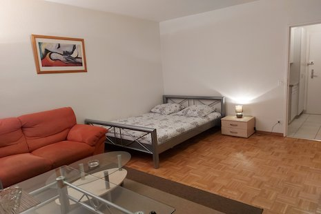 This new bright and furnished studio is ideally located in the center of Geneva. For instance, it is within 5 minutes walking
